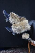 Raccoon Fur Legs Cuffs Saga Furs Boot Cuffs LegBands Fits All Extra Large