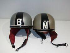 "2 x Vintage Rare Stadium Cruiser Pudding Basin Motorcycle Helmet  ""M"" & ""B"""