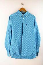 Tommy Hilfiger Herren Hemd Gr. L Langarm Blau Karo Shirt