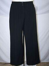 Jones New York Sport Aryn Black Gray Pinstripe Ankle Pants Womens Size 10 Medium
