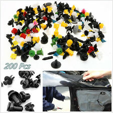 200 Pcs Plastic Mixed Color Autos Off-Road Bumper Fender Retainer Fastener Clips