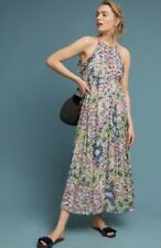 Anthropologie Maxi Dress Allerton Floral Halter Button Front by Meadow Rue S New