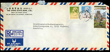 Hong Kong 1988 Registered Airmail Commercial Cover To Austria #C38993