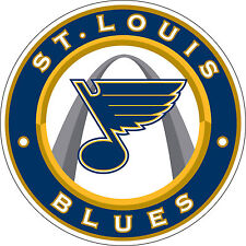 "St Louis Blues NHL Hockey sticker, wall decor, large vinyl decal, 9.5""x 9.5"""