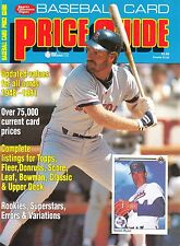 Baseball Card Price Guide 1991 / Krause Publications (Excellent Condition)