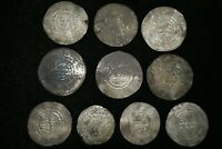 Lot Sell! 10 Pcs Large Authentic Ancient Samanid Dynasty Silver Coins 943-954 AD