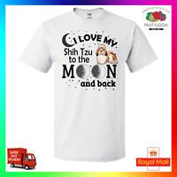 I Love My Shih Tzu To The Moon & Back Unisex TShirt T-Shirt Tee Cool Dog Pup