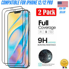 (2 PACK) iPhone 12/12 Pro FULL SCREEN TEMPERED GLASS(EDGE TO EDGE-SHATTER RESIST