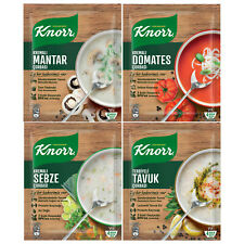 Knorr Soup Mix, Mushroom, Tomato, Vegetable, Creamy Chicken - Pack of 10