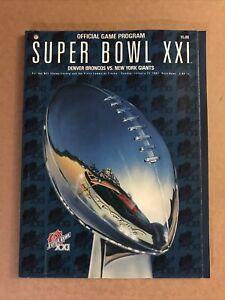 NEW Vintage SUPER BOWL XXI Official GAME PROGRAM, Broncos v. Giants 1-25-1987