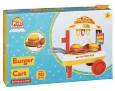 Play And Pretend Burger Cart - Amazing 30pc Set
