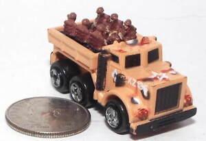 Small  Micro Machine Plastic 6X6 Troop Transport Truck in Desert Camouflage