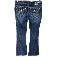 MEK Denim 26 x 34 Jeans Oaxaca Boot Cut Dark Pocket Flaps Womens Actual 29 x 29