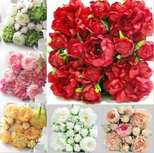 1/10Pcs 30x30cm Premium Artificial Fake Flower Rose Wall Panel Wedding Decor