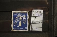 FRANCOBOLLI SVIZZERA USATI N°340 (A10808)
