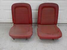 65 66 67 Mustang Red Bucket Seats 1965 1966 1967