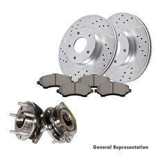 Front Cast Brake Rotors and Hub Bearings & Ceramic Pads JEEP CHEROKEE WRANGLER