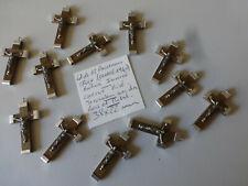 lot de 12 anciennes croix bois et Métal JERUSALEM     FRANCE 1940  old crucifix