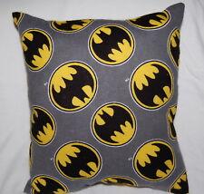 New Handmade Superhero Batman Symbol Cuddle/ Toddler / Travel Pillow