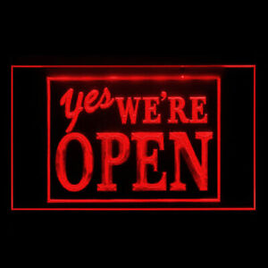 120038 YES We're Open Welcome Yoga Brew Pub Shop Display Neon Sign
