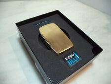 ZIPPO LIGHTER FEUERZEUG BLU VERTICAL GOLD A GAS BUTANO RICARICABILE NEW .
