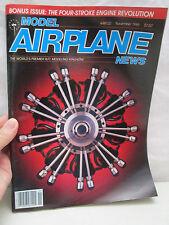 Model Airplane News Magazine November 1985 Bonus Four Stroke Engine Revolution
