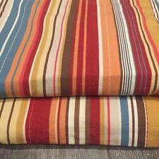 ❤️ 2 Avail Rare POTTERY BARN Red Striped Stripe Standard Pillow Sham(s)