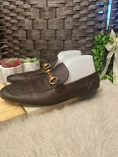 Gucci Men's Leather Loafer: Size 7: Brown (29)