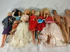 Vintage 1966  Barbie Doll trunk Large Double Case 8 dolls and cloths