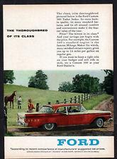 1959 FORD Custom 300 Tudor Sedan Vintage Original small Print AD - Red car photo