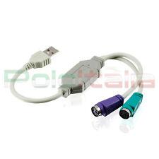 Cavo da USB a PS2 cavetto filo sdoppiatore per alimentazione pc mouse e tastiera