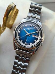 Vintage 1982 BLUE SEIKO 5, 7009-8270 Men's Automatic Wristwatch, SERVICED