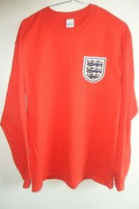 England long sleeve shirt 1966 retro t/shirt size X/Large 44/46 Red