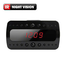 SpygearGadgets 1080P HD Motion Activated Mini Night Vision Clock Hidden Camera
