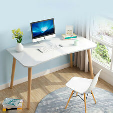 White PC Dressing Table Computer Desk Kid Writing Home Office Workstation Simple