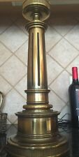 Tall, Stately Vintage Brass Federal Style Stiffel Table Lamp, Nice