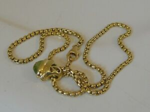 DAVID YURMAN 18K GOLD PERIDOT ACORN BOX CHAIN NECKLACE