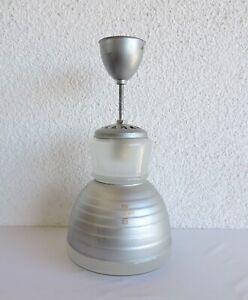 alte Zeiss Ikon Lampe Deckenlampe Art Deco Bauhaus Entwurf Adolf Meyer