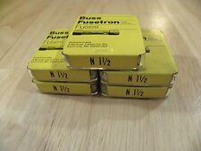 Cooper Bussmann N1 1/2 N-1 1/2 New Old Storage Fuse Box 25 Pieces