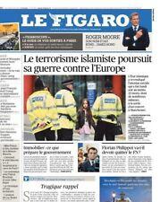 Le Figaro 24.5.17 N°22639*TERRORISME en GB*Roger MOORE*TRUMP & PAPE*CANNES*CODE