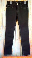 Guess Los Angeles Daredevil Girls Black Denim Skinny Leg Jeans Sz. 10 Used