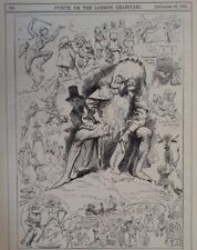"""7x10 """"Punch Cartoon 1891 Harry Furniss Señor Punch On Tour en Gales"""