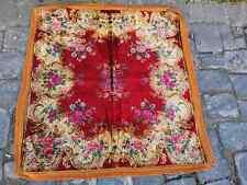 Vintage square velvet tapestry, velvet tablecloth