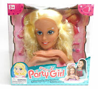 Hair do head with accessoires Puppe Make-up Makeup doll Styling NEU F196)