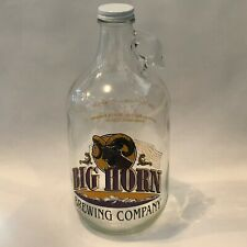 Big Horn Brewery Ale  64 ounce Glass Growler Brewing Company