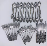 41 Piece National Stainless Japan MALTA Flatware Vintage Lot Of 41 Pieces