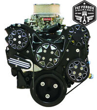 Small Block Chevy Serpentine Kit Black Billet Aluminum A/C and Power Steering
