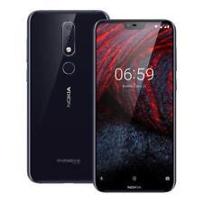 Nokia 6.1 Plus 4 Go+64 Go TA-1103 Dual Sim Android Désimlocké Téléphones Bleu