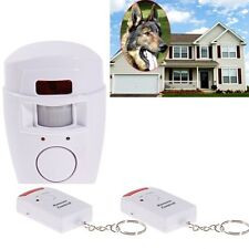 Home Security Wireless Alarm System IR Motion Sensor Detector + 2 Remote Control