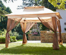 New Pop Up Canopy Tent w Netting 11' x 11' Gazebo Shade Vented Roof Bug Screen